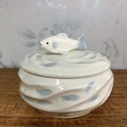 Carp Fish Shoal Design Sugar Bowl | Trinket Pot